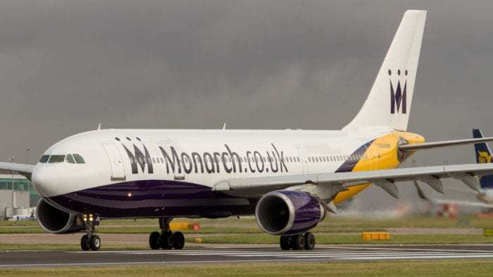 Monarch airlines stormy skies