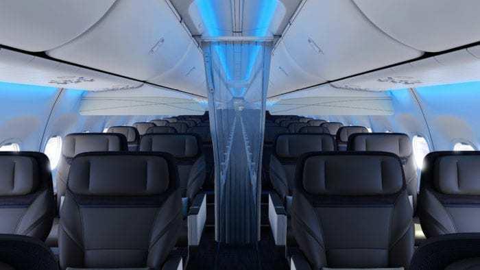 Alaska Airlines aircraft cabin