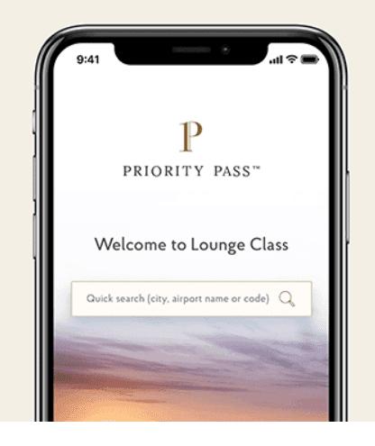 Priority Pass mobile app