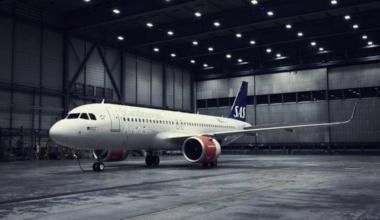 SAS A320neo aircraft