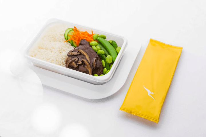 Qantas meal