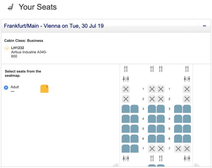 Lufthansa A340 Booking
