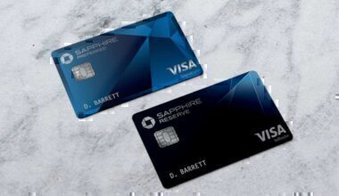 The two Chase Sapphire Preferred and Reserve cards