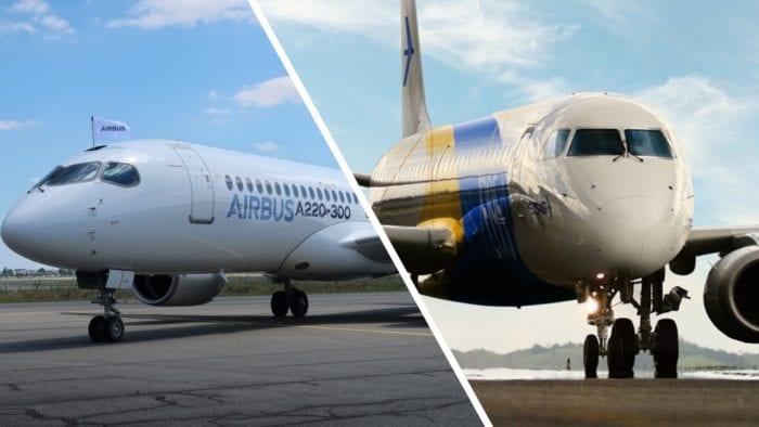 A220-300 vs E195-E2