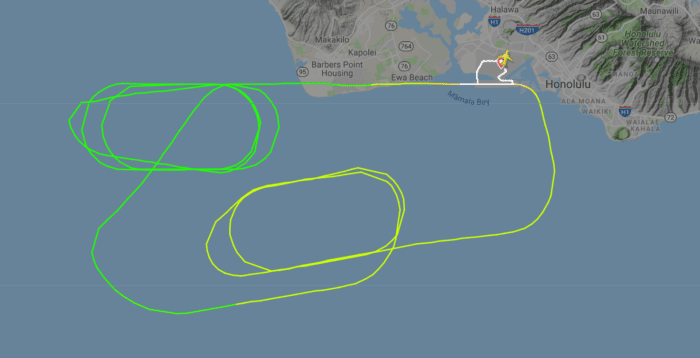 UA132 flight path
