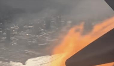 United engine fire
