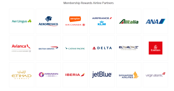 American Express transfer airline partners