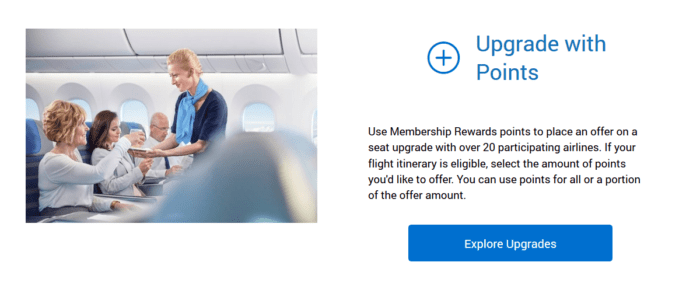 Upgrades with Membership Rewards points