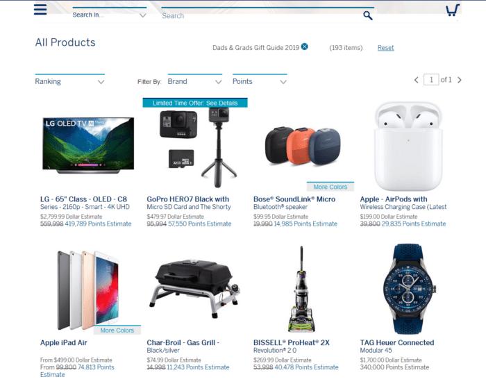 Membership Rewards online shopping
