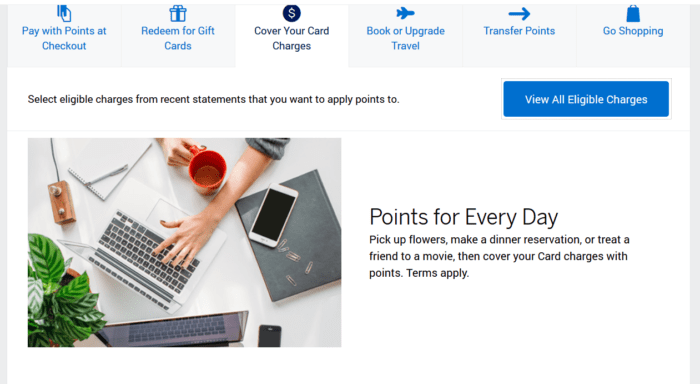 Offset charges with American Express points