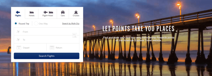Book travel with American Express