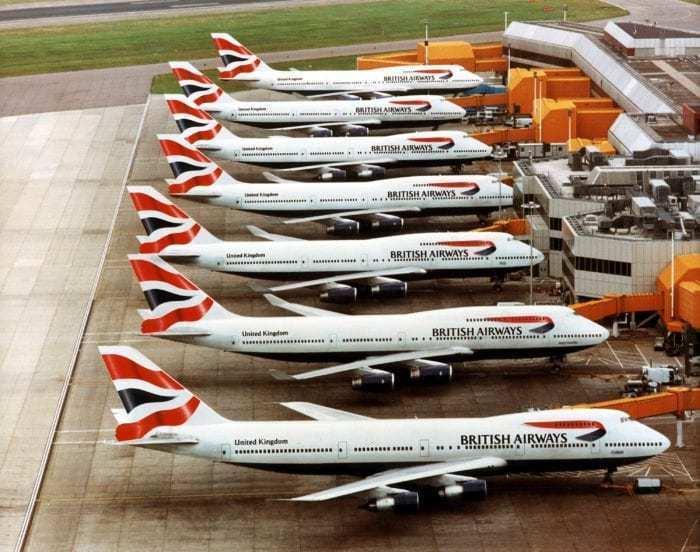 British Airways 747s at Heathrow