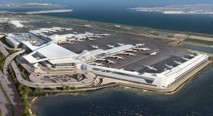 Aerial photo of LaGuardia airport