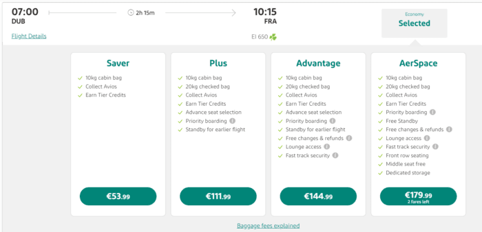 Aer Lingus Finally Launches Short Haul Business Class