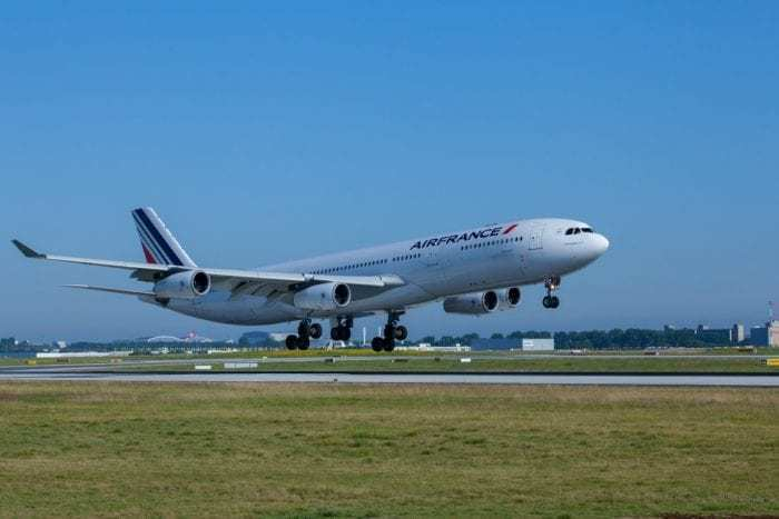Air France A340 on runway