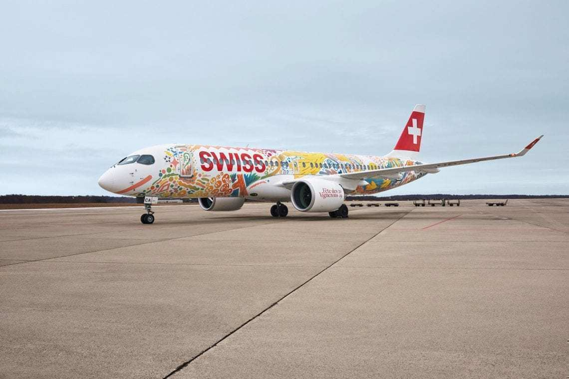Swiss Air showing new livery