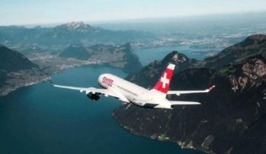 Swiss CS100 over mountains