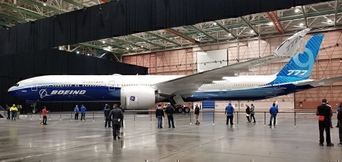 First Boeing 777X Destined For Lufthansa Has Left The Factory Floor