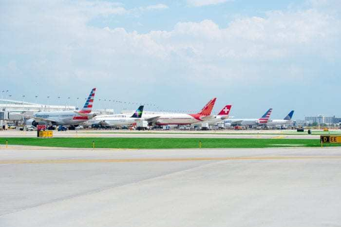 International planes at ORD
