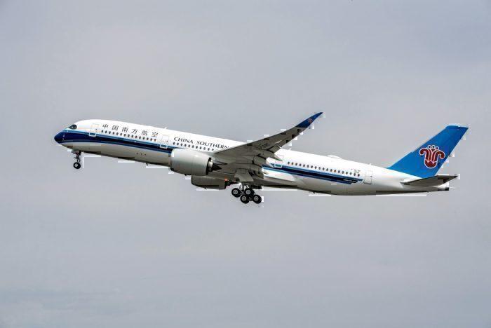 China Southern A350 flight