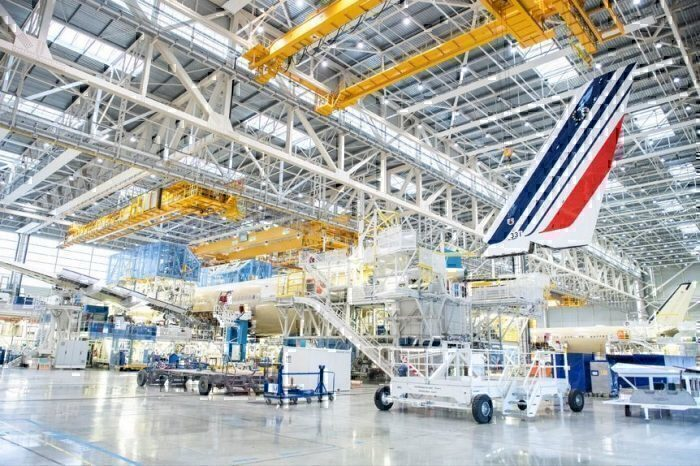 A350 in the paint shop