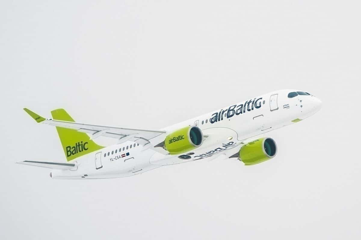 airBaltic CS300 arives in Riga, now A220