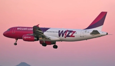 Wizz air sunset