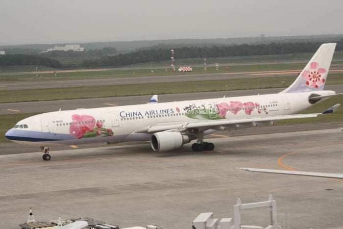 China Airlines A330 on the apron