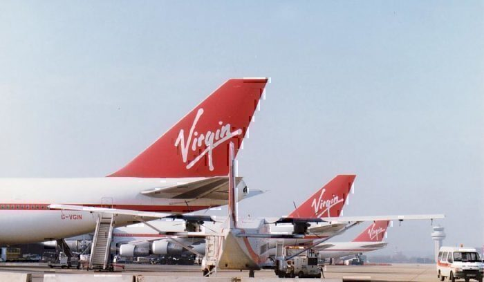 Virgin Aircraft tails