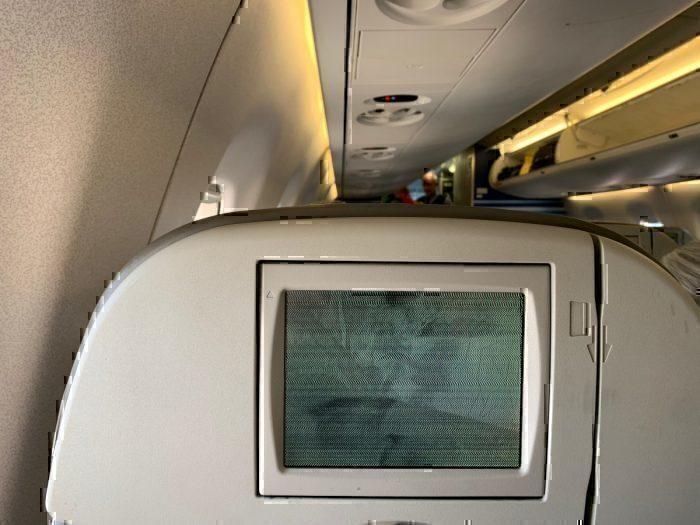 JetBlue seatback screen