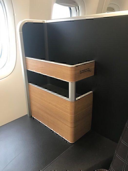 Open storage compartment