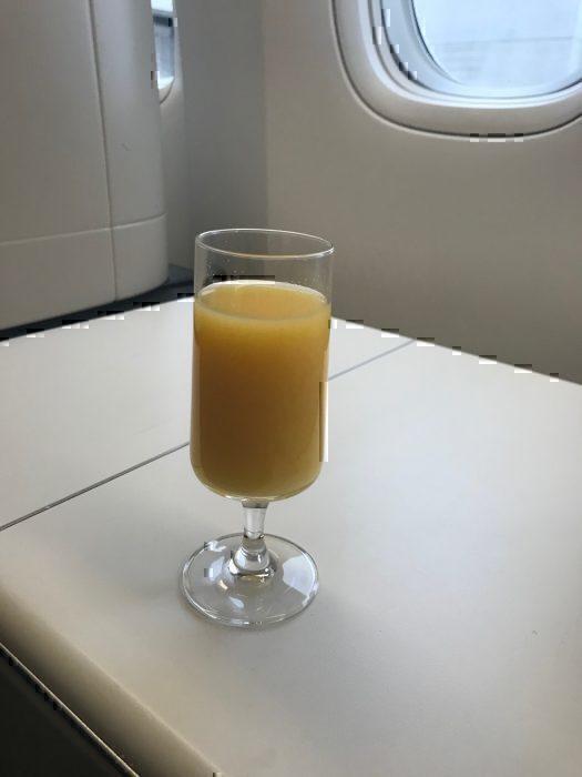 Orange juice pre-departure