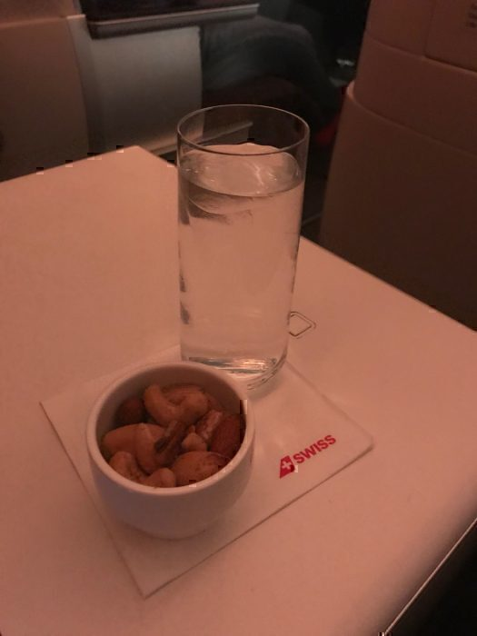 Swiss J water and nuts