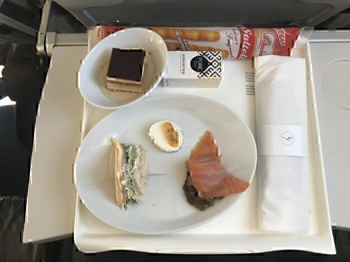 Business class snack