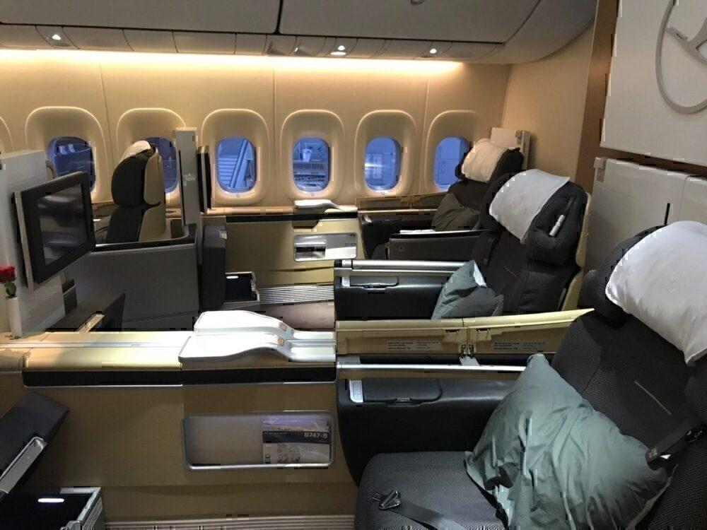 Row 3 Lufthansa First Class 747-8