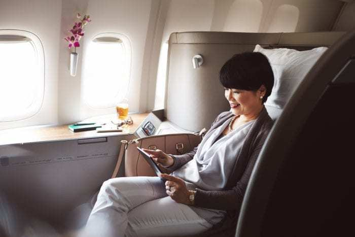 Fly first class using points