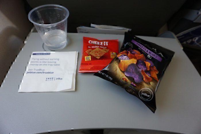 JetBlue flight snacks