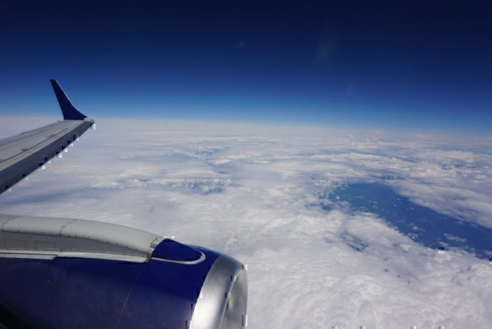 JetBlue wing view