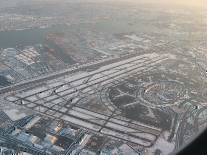 Newark Airport from above