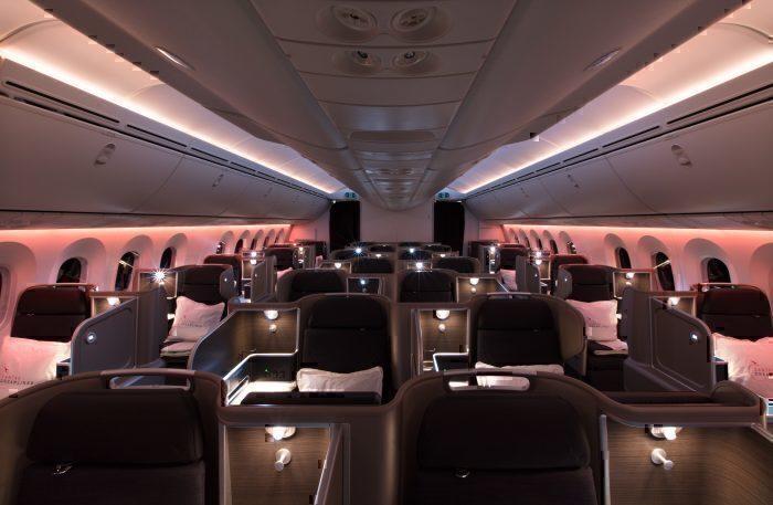Qantas dreamliner interior