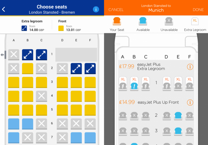 Unallocated seating, Ryanair, easyJet