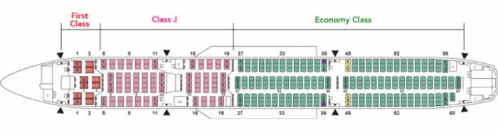 JAL A350 seatmap