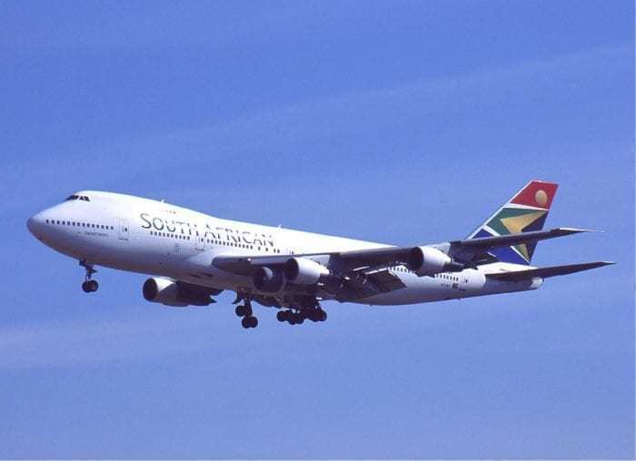 A South African Airways Boeing 747.
