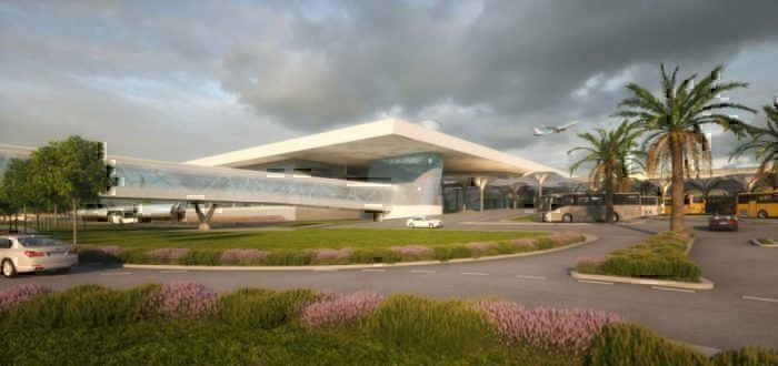 Split airport new terminal