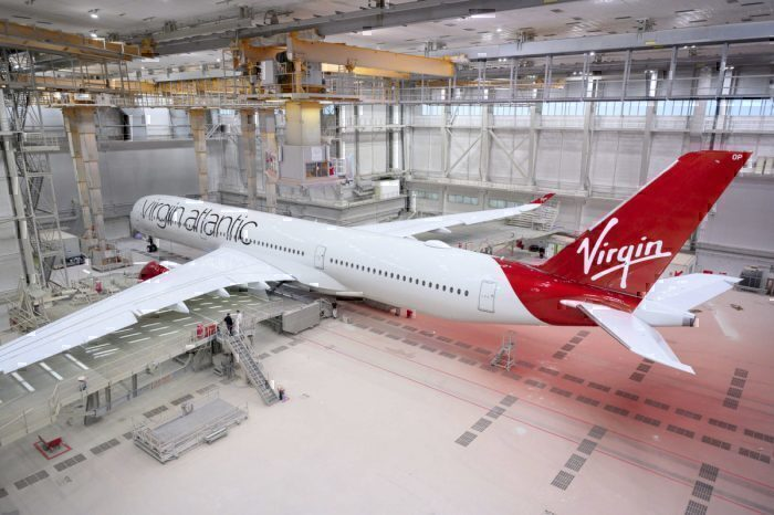 Virgin A350 paint shop