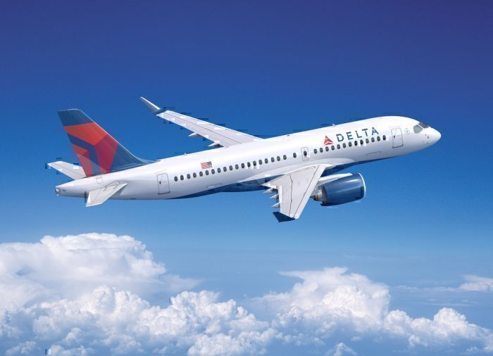 Delta Airlines A220 in flight