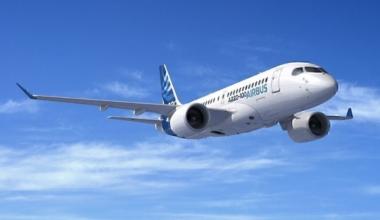 A220 digital mock up in flight