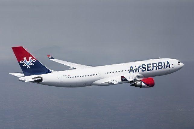 Air Serbia A332 en route to JFK