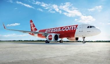 Air Asia plane on apron