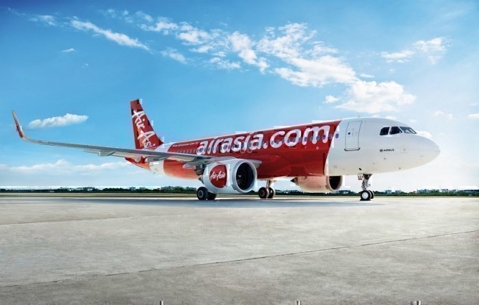 Air Asia plane on apron
